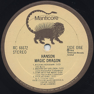 Hanson / Magic Dragon label