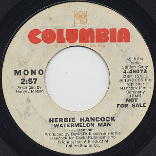 Herbie Hancock / Watermelon Man back