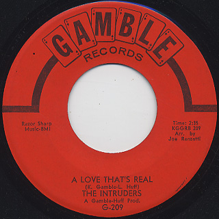 Intruders / Baby I'm Lonely c/w A Love That's Real back