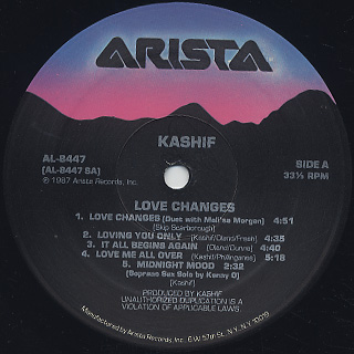 Kashif / Love Changes label