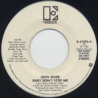 Leon Ware / Baby Don't Stop Me