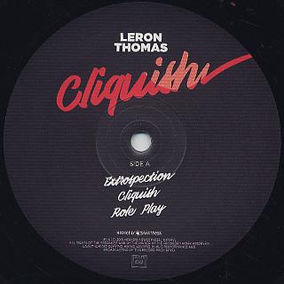 Leron Thomas / Cliquish label