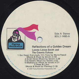 Lonnie Liston Smith & The Cosmic Echoes / Reflections Of A Golden Dream label