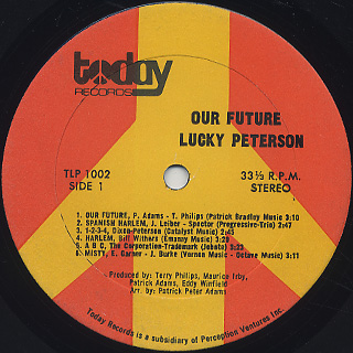 Lucky Peterson / Our Future label