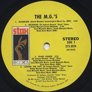 M.G.'s / S.T. label