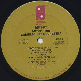 MFSB / The Gamble Huff Orchestra label