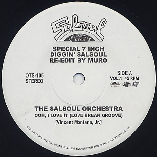 Muro / Diggin' Salsoul Re-Edit By Muro Vol.1 front
