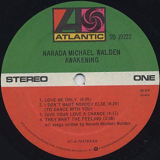 Narada Michael Walden / Awakening label