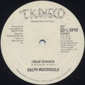 Ralph MacDonald / I Need Someone c/w Discolypso