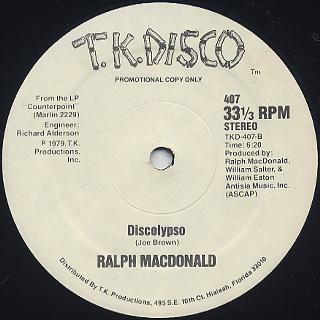 Ralph MacDonald / I Need Someone c/w Discolypso back