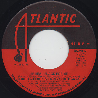 Roberta Flack & Donny Hathaway / Be Real Black For Me back