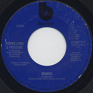 Ronnie Laws & Pressure / Momma