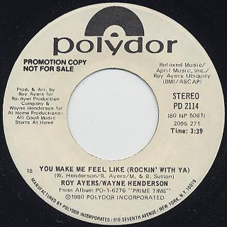 Roy Ayers, Wayne Henderson / You Make Me Feel Like(Rockin' With Ya) back