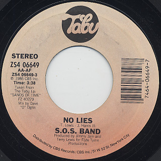 S.O.S. Band / No Lies c/w Even When You Sleep