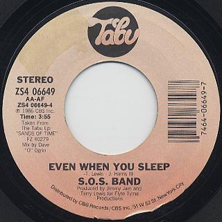 S.O.S. Band / No Lies c/w Even When You Sleep back