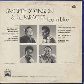Smokey Robinson And The Miracles / Four In Blue back
