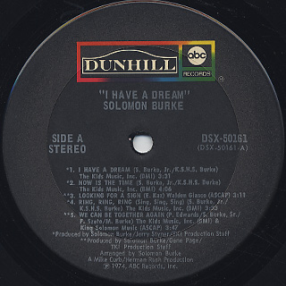 Solomon Burke / I Have A Dream label