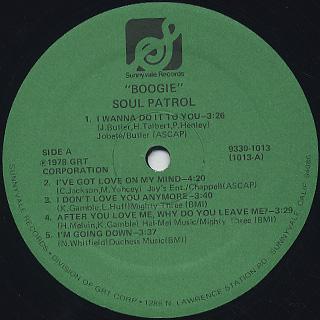 Soul Patrol / Boogie label