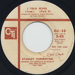 Stanley Turrentine / I Told Jesus back