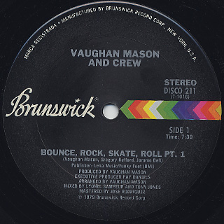Vaughan Mason And Crew / Bounce, Rock, Skate, Roll (12)