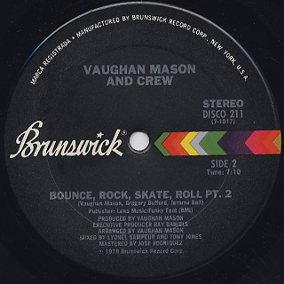 Vaughan Mason And Crew / Bounce, Rock, Skate, Roll (12) back