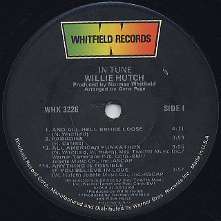 Willie Hutch / In Tune label