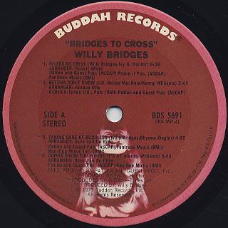 Willy Bridges / Bridges To Cross label