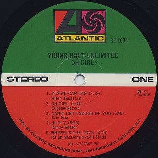 Young-Holt Unlimited / Oh Girl label