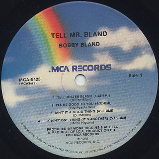 Bobby Bland / Tell Mr. Bland label