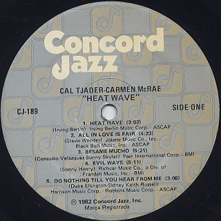 Cal Tjader / Carmen McCrae / Heat Wave label