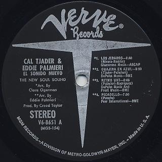 Cal Tjader & Eddie Parmieri / El Sonido Nuevo label