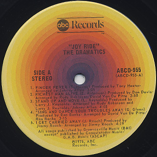 Dramatics / Joy Ride label