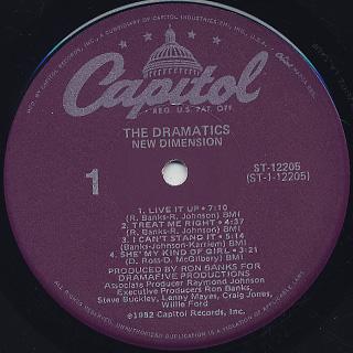 Dramatics / New Dimension label