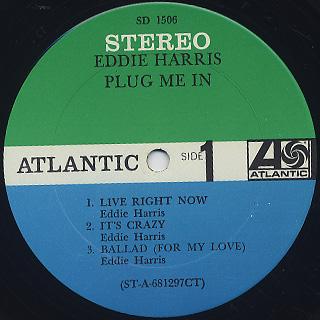 Eddie Harris / Plug Me In label