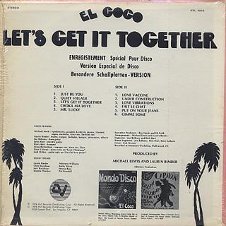 El Coco / Let's Get It Together back