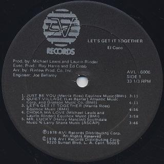 El Coco / Let's Get It Together label