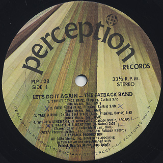 Fatback Band / Let's Do It Again label