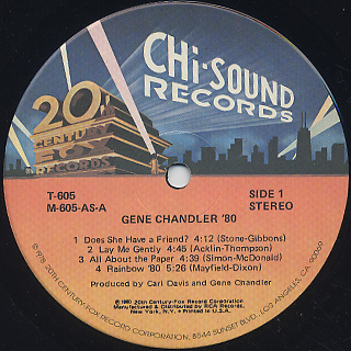 Gene Chandler / '80 label