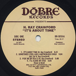 H. Ray Crawford / It's About Time label
