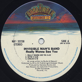 Invisible Man's Band / Really Wanna See You label