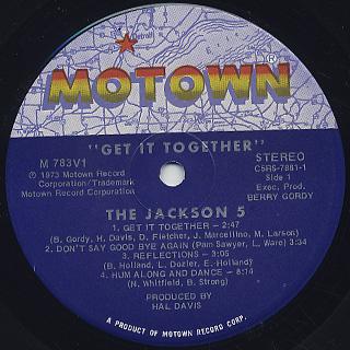 Jackson 5 / Get It Together label