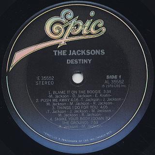 Jacksons / Destiny label