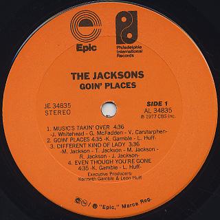 Jacksons / Goin' Places label