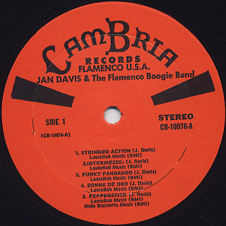 Jan Davis & The Flamenco Boogie Band / Flamenco USA label