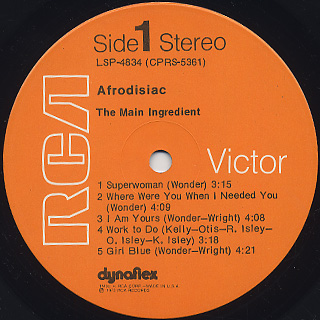 Main Ingredient / Afrodisiac label