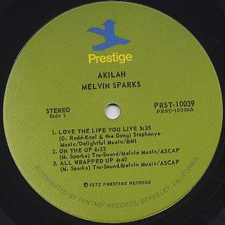 Melvin Sparks / Akilah label