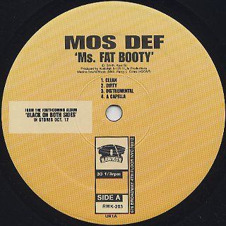 Mos Def / Ms. Fat Booty label