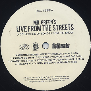 Mr. Green / Live From Street label