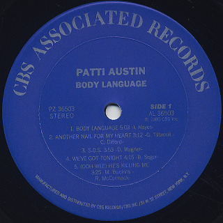 Patti Austin / Body Language label