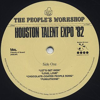 People's Workshop / Houston Talent Expo '82 label